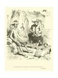 Don Quixote and Sancho as Love-Lorn Shepherds Giclee Print by Sir John Gilbert