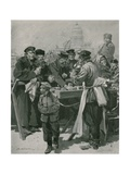 A Droshky-Drivers' Tea-Stall Giclee Print by Frederic De Haenen