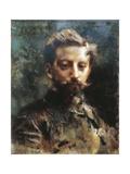 Portrait of Primo Levi Giclee Print by Luigi Conconi