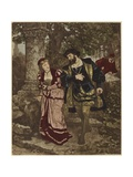 Faust and Margaret Giclee Print by Carl Ludwig Friedrich Becker
