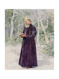 The Late Father John of Cronstadt in His Garden Giclee Print by Frederic De Haenen