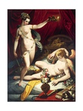 Cupid and Psyche, 1589 Giclee Print by Jacopo Zucchi