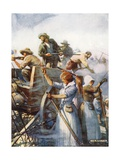 Beside Them Stood the Women Quietly Loading Guns Giclee Print by Joseph Ratcliffe Skelton