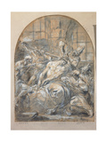 Derided Christ Giclée-tryk af Alessandro Magnasco