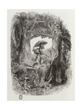 Robinson Crusoe, Novel by Daniel Defoe Giclee Print