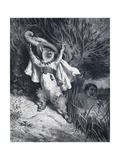 Puss in Boots, Illustration Giclee Print by Gustave Doré