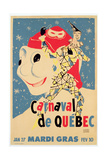 Poster Advertising the Carnival De Quebec, C.1959 Giclee Print