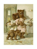 The Three Bears Giclee Print by John Lawson