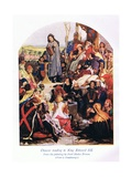 Chaucer Reading to King Edward III Giclee Print by Ford Madox Brown