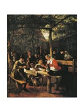 Garden Outside Inn Giclee Print by Jan Havicksz. Steen