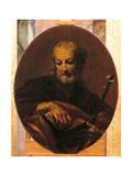 San Giuseppe Con Il Bastone Fiorito Giclée-tryk af Giuseppe Maria Crespi