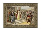 St Genevieve and Attila the Hun Giclee Print