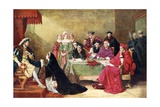 The Trial of Queen Catherine Giclee Print by Henry O'Neill