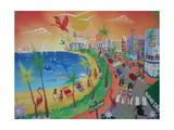 Oceandrive, Miami Beach, 2012 Giclee Print by Herbert Hofer