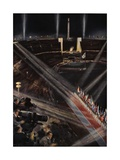 The Closing Ceremony in the Olympic Stadium, 1936 Giclee Print