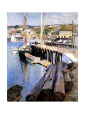 Fish Wharves, Gloucester, 1896 Giclee Print by Willard Leroy Metcalf