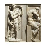 A Hermit and a Hero at Rest Giclee Print by Baccio Bandinelli