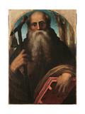 St. Anthony Abbot Giclée-tryk af Domenico Beccafumi
