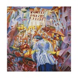 Simultaneous Vision Giclee Print by Umberto Boccioni