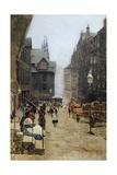 High Street in Edinburgh Giclee Print by Telemaco Signorini