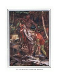 Fool and Want-Wit Washing the Ethiopian Giclee Print by John Byam Liston Shaw