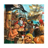 Captain Kidd, Privateer or Pirate Giclee Print by Kenneth John Petts