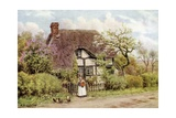 Lilac and Apple Blossoms, Harvington, Worcester Giclee Print by Alfred Robert Quinton