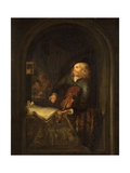 Man with a Violin Giclee Print by Gerrit or Gerard Dou