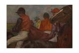 The Jockeys, C.1882 Giclee Print by Edgar Degas