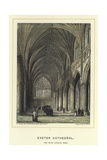 Exeter Cathedral, the Nave Looking West Giclee Print by John Francis Salmon