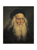 Portrait of Leonardo Da Vinci Giclee Print by Lattanzio Querena