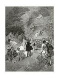 La Fête Chez Thérèse, 19th Century Giclee Print by Emile Antoine Bayard