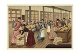 Packing Chocolates in a Factory Giclee Print
