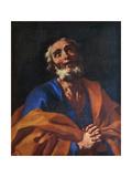 St Peter Giclée-tryk af Francesco Solimena