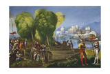 Aeneas and Achates on the Libyan Coast, C.1520 Giclee Print by Dosso Dossi