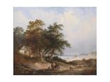A Coastal Landscape, Isle of Wight Giclee Print by Henry John Boddington