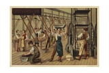 Chocolate Manufacturing Giclee Print