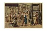 Chocolate Manufacturing Giclee Print