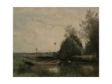 A Pond in Mortain, C.1860-70 Giclee Print by Jean-Baptiste-Camille Corot