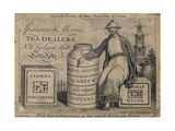 Tea Dealers, Sparrow and Morris, Trade Card Giclee Print