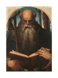St. Anthony Abbot Reading Giclee Print by Domenico Beccafumi