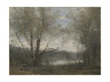 A Pond Seen Through the Trees, C.1855-65 Giclee Print by Jean-Baptiste-Camille Corot