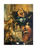 Ferri Altarpiece Giclee Print by Antonio Guardi