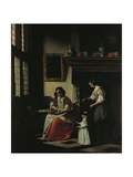 First Steps, 1670 Giclee Print by Pieter de Hooch