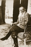 Tolstoy in His Later Years at His Country Estate Photographic Print