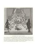 Freemasons' Meeting, 18th Century Giclee Print