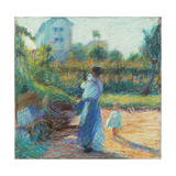 Woman in the Garden Giclee Print by Umberto Boccioni
