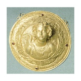 Gold Medallion with Eros Bust, Syria Giclee Print