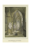 Chichester Cathedral, Northern Aisle Giclee Print by Hablot Knight Browne