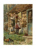 Hansel et Gretel Reproduction procédé giclée